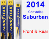 Front & Rear Wiper Blade Pack for 2014 Chevrolet Suburban - Premium