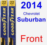 Front Wiper Blade Pack for 2014 Chevrolet Suburban - Premium