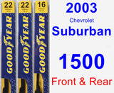 Front & Rear Wiper Blade Pack for 2003 Chevrolet Suburban 1500 - Premium