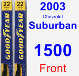Front Wiper Blade Pack for 2003 Chevrolet Suburban 1500 - Premium