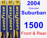 Front & Rear Wiper Blade Pack for 2004 Chevrolet Suburban 1500 - Premium