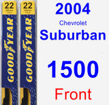 Front Wiper Blade Pack for 2004 Chevrolet Suburban 1500 - Premium