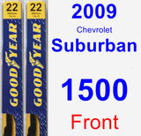 Front Wiper Blade Pack for 2009 Chevrolet Suburban 1500 - Premium