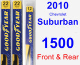 Front & Rear Wiper Blade Pack for 2010 Chevrolet Suburban 1500 - Premium