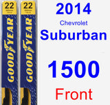 Front Wiper Blade Pack for 2014 Chevrolet Suburban 1500 - Premium