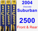 Front & Rear Wiper Blade Pack for 2004 Chevrolet Suburban 2500 - Premium
