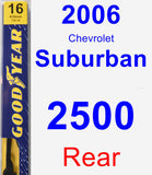 Rear Wiper Blade for 2006 Chevrolet Suburban 2500 - Premium