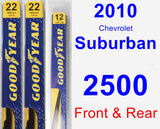 Front & Rear Wiper Blade Pack for 2010 Chevrolet Suburban 2500 - Premium