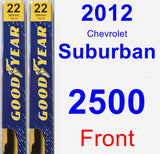 Front Wiper Blade Pack for 2012 Chevrolet Suburban 2500 - Premium