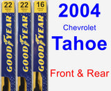Front & Rear Wiper Blade Pack for 2004 Chevrolet Tahoe - Premium