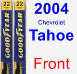 Front Wiper Blade Pack for 2004 Chevrolet Tahoe - Premium