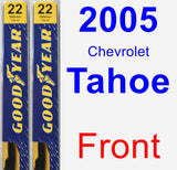 Front Wiper Blade Pack for 2005 Chevrolet Tahoe - Premium