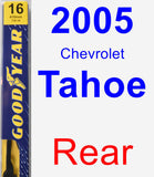 Rear Wiper Blade for 2005 Chevrolet Tahoe - Premium