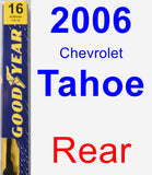 Rear Wiper Blade for 2006 Chevrolet Tahoe - Premium