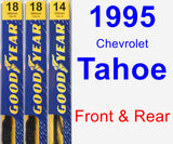 Front & Rear Wiper Blade Pack for 1995 Chevrolet Tahoe - Premium