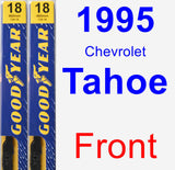 Front Wiper Blade Pack for 1995 Chevrolet Tahoe - Premium