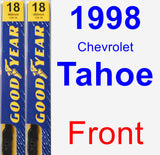 Front Wiper Blade Pack for 1998 Chevrolet Tahoe - Premium