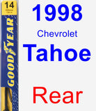 Rear Wiper Blade for 1998 Chevrolet Tahoe - Premium