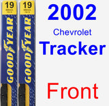Front Wiper Blade Pack for 2002 Chevrolet Tracker - Premium
