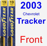 Front Wiper Blade Pack for 2003 Chevrolet Tracker - Premium