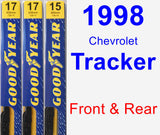Front & Rear Wiper Blade Pack for 1998 Chevrolet Tracker - Premium
