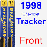 Front Wiper Blade Pack for 1998 Chevrolet Tracker - Premium