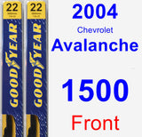 Front Wiper Blade Pack for 2004 Chevrolet Avalanche 1500 - Premium