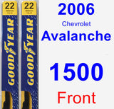 Front Wiper Blade Pack for 2006 Chevrolet Avalanche 1500 - Premium