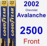 Front Wiper Blade Pack for 2002 Chevrolet Avalanche 2500 - Premium