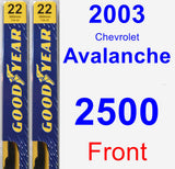 Front Wiper Blade Pack for 2003 Chevrolet Avalanche 2500 - Premium