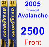 Front Wiper Blade Pack for 2005 Chevrolet Avalanche 2500 - Premium