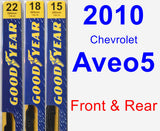 Front & Rear Wiper Blade Pack for 2010 Chevrolet Aveo5 - Premium