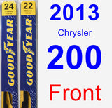 Front Wiper Blade Pack for 2013 Chrysler 200 - Premium