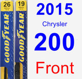 Front Wiper Blade Pack for 2015 Chrysler 200 - Premium