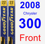 Front Wiper Blade Pack for 2008 Chrysler 300 - Premium