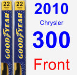 Front Wiper Blade Pack for 2010 Chrysler 300 - Premium
