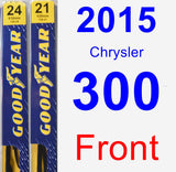 Front Wiper Blade Pack for 2015 Chrysler 300 - Premium