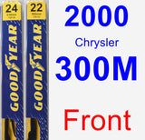 Front Wiper Blade Pack for 2000 Chrysler 300M - Premium