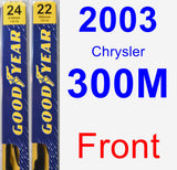 Front Wiper Blade Pack for 2003 Chrysler 300M - Premium