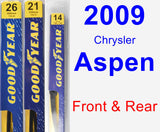 Front & Rear Wiper Blade Pack for 2009 Chrysler Aspen - Premium