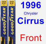 Front Wiper Blade Pack for 1996 Chrysler Cirrus - Premium