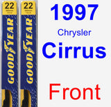 Front Wiper Blade Pack for 1997 Chrysler Cirrus - Premium