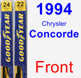 Front Wiper Blade Pack for 1994 Chrysler Concorde - Premium