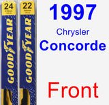 Front Wiper Blade Pack for 1997 Chrysler Concorde - Premium