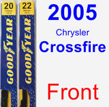 Front Wiper Blade Pack for 2005 Chrysler Crossfire - Premium