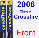 Front Wiper Blade Pack for 2006 Chrysler Crossfire - Premium