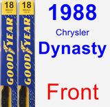 Front Wiper Blade Pack for 1988 Chrysler Dynasty - Premium