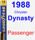Passenger Wiper Blade for 1988 Chrysler Dynasty - Premium
