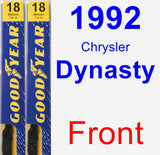 Front Wiper Blade Pack for 1992 Chrysler Dynasty - Premium