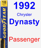 Passenger Wiper Blade for 1992 Chrysler Dynasty - Premium